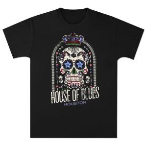 House of Blues Crown Skull Men's T-Shirt - Houston