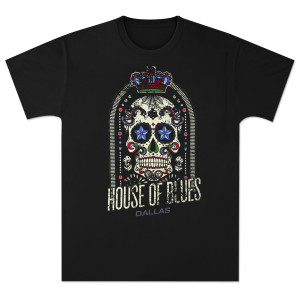 HOB Men's Skull T-Shirt- Dallas