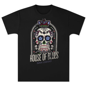House of Blues Crown Skull Men's T-Shirt - San Diego