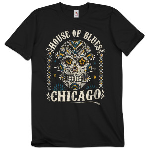 Unisex Sugar Skull Tee - Chicago