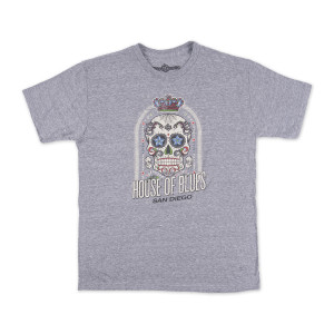House Of Blues Crown Skull Men's T-Shirt, Gray - San Diego