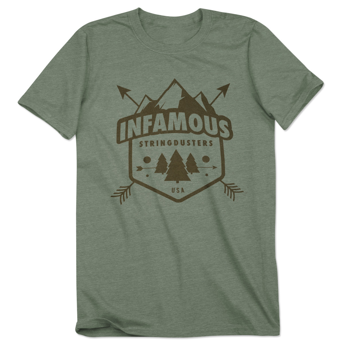 The Stringdusters - Mountain Stamp T-Shirt - Moss