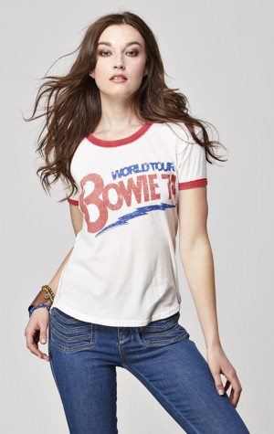 David Bowie Short Sleeve Ringer Tee
