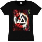 Linkin Park Ascensão das cinzas da menina T-shirt cabido