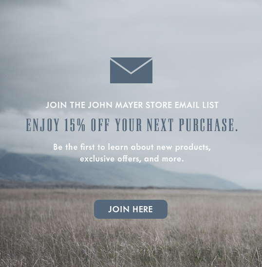 Sign Up for the JM Store List