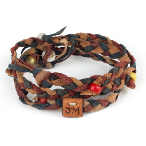Kipoto Bracelet in Cochineal and Indigo by Dacine