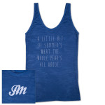 "Womens ""Summer"" Burnout Tank Top"