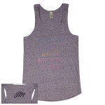 "Womens Gray ""Summer"" Eco-Jersey Racerback Tank"