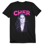 Cher Silver Chains Dateback T-Shirt