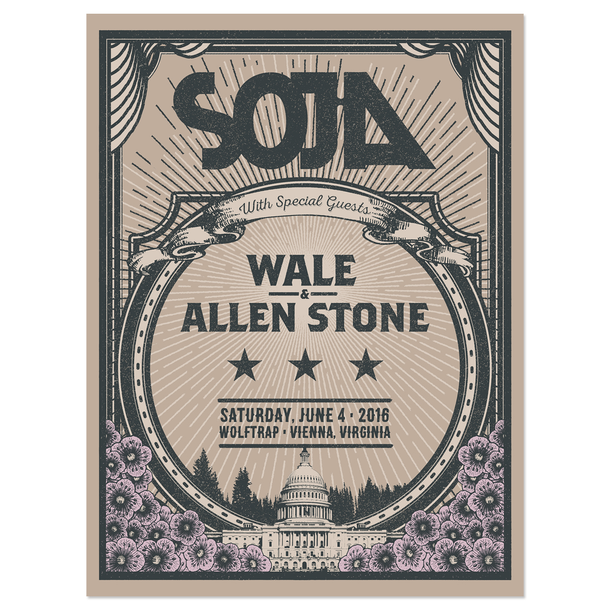 Wolf Trap 2016 Screen Print Edition of 150