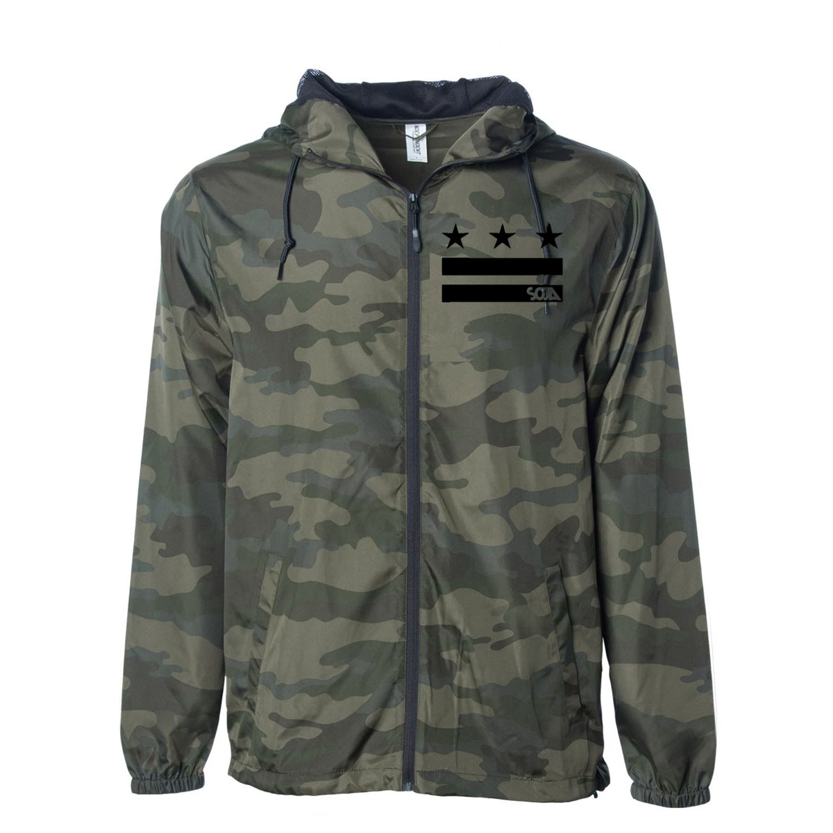 SOJA - Stars and Bars Camo Windbreaker