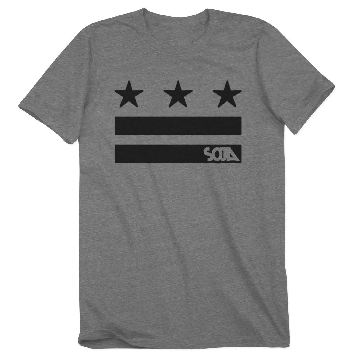 Stars & Stripes Logo Cut Out Heather Grey Tee