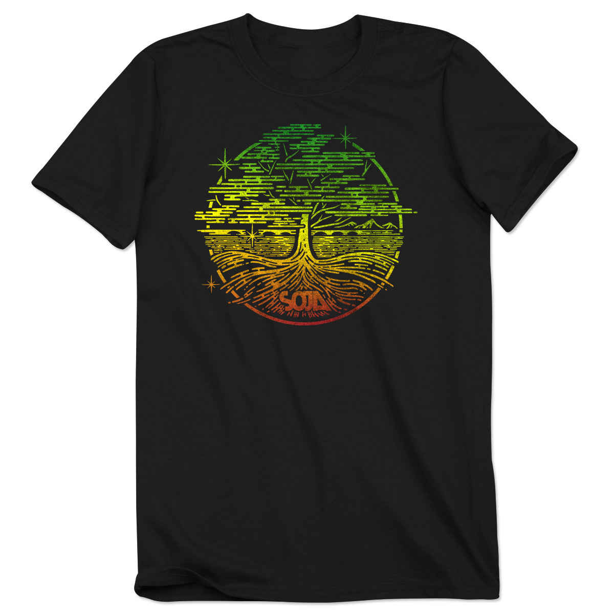 SOJA VA Tree Black Tee