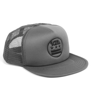 SOJA Gray Trucker Hat Stars and Bars