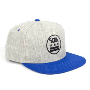SOJA ADJ Hat Stars and Bars Gray with Blue Bill