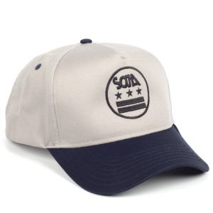 SOJA ADJ Gray Hat with Stars and Bars with Black Bill