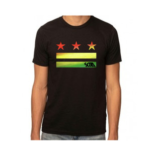 Stars & Stripes Logo Cut Out Black Tee