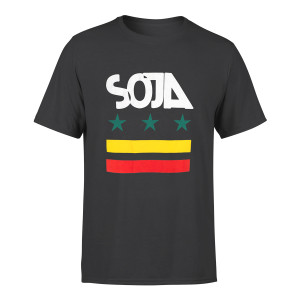 SOJA - Charcoal Stars & stripes Tee
