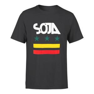 SOJA - Charcoal Stars & stripes Tee