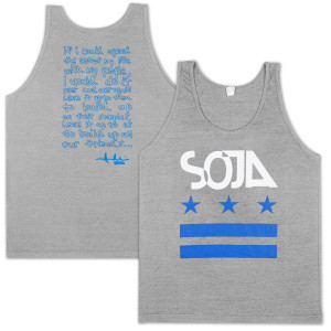 SOJA - Stars & stripes Tri-Grey Tank