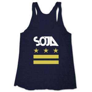 SOJA - Indigo Stars & Bars Ladies' Tank