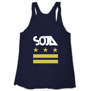 SOJA - Indigo Stars & Bars Ladies' Tank