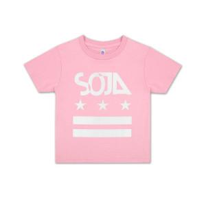 SOJA - Kids Pink Stars & Stripes T-Shirt