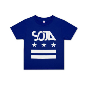 SOJA - Kids Blue Stars and Bars T-Shirt