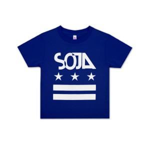 SOJA - Kids Blue Stars and Bars T-Shirt