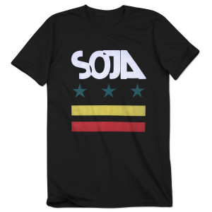 SOJA - Black Stars & Bars Tee