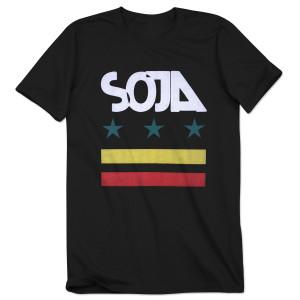SOJA - Black Stars & Bars Tee