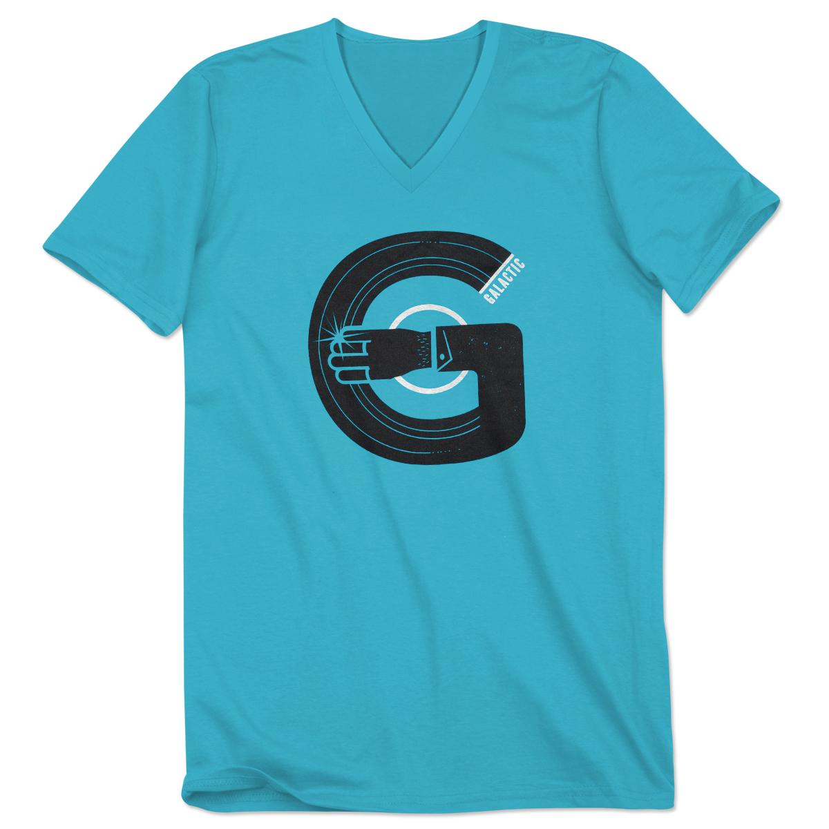Galactic Record Arm V-Neck T-Shirt