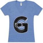 Record Arm Ladies V-Neck T-Shirt