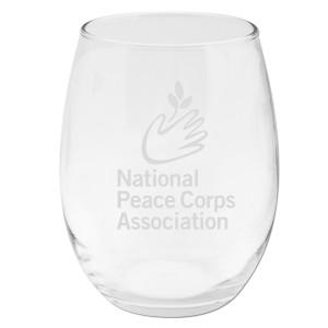 Peace Corps NPCA 15oz Stemless Wine Glass