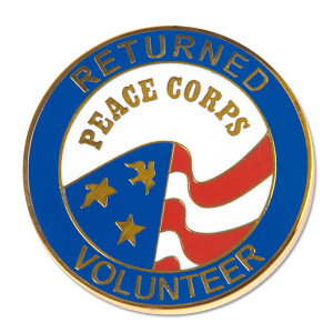 Peace Corps Returned Volunteer Pin - 1.5 inch