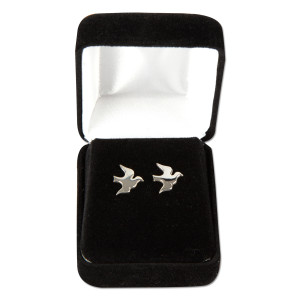 Peace Corps Sterling Silver Flying Dove Earrings