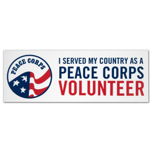 "Peace Corps 3"" x 8"" Bumper Sticker"
