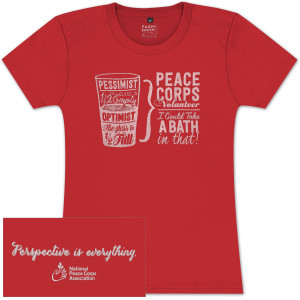 Peace Corps Glass Bath Ladies T-shirt