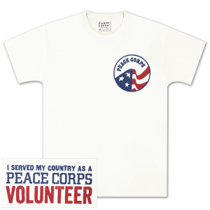 "Peace Corps ""Volunteer"" T-shirt White"