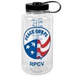 Peace Corps 32oz. Clear Nalgene Bottle