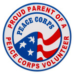 Peace Corps Proud Parent Car Magnet