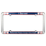 Peace Corps Metal License Plate Frame