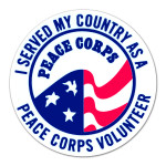 Peace Corps Static Cling