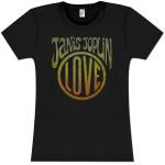 Janis Joplin Love Girlie T-Shirt