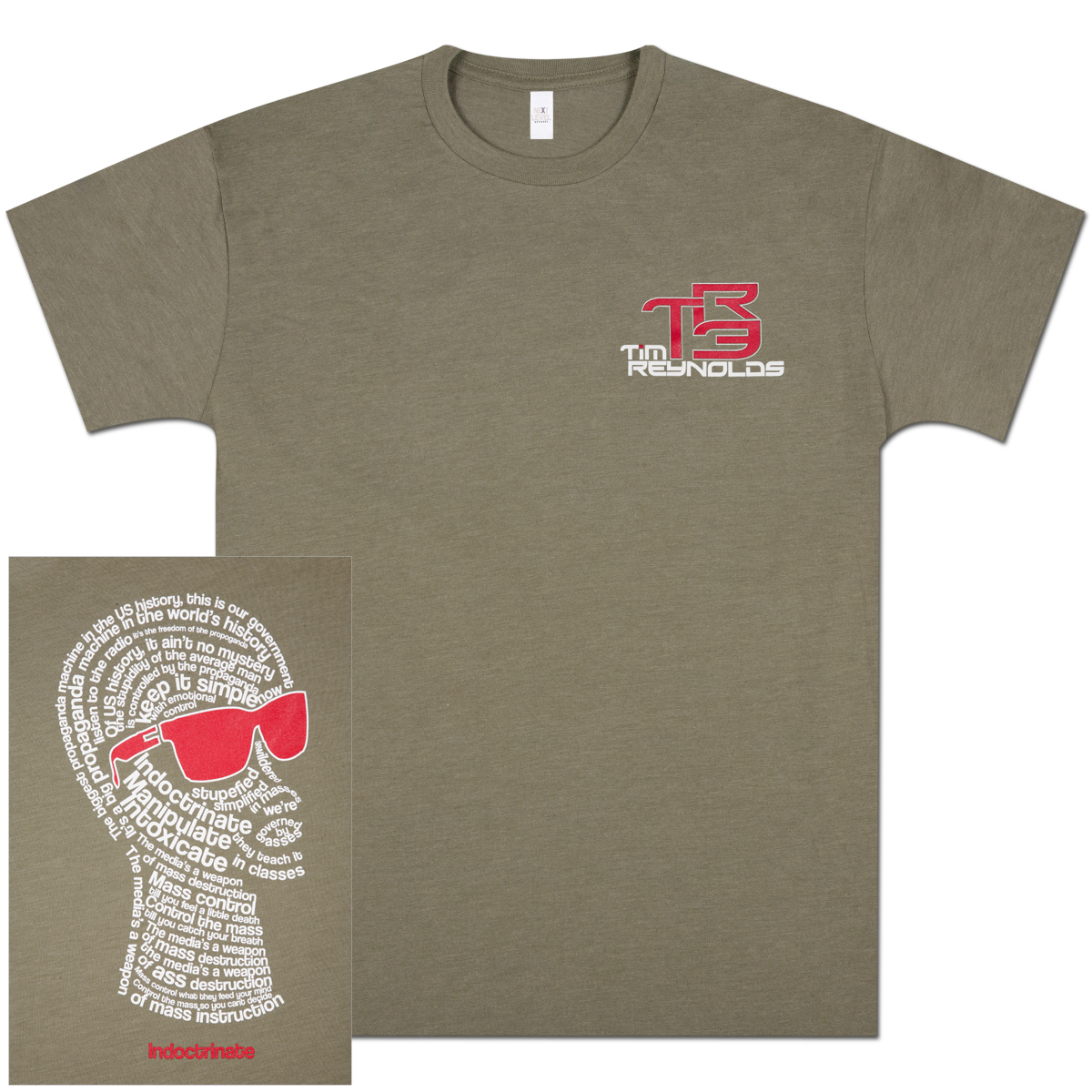 TR3 Filipo Short Sleeve T-Shirt - Olive Green