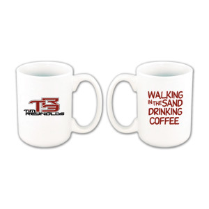 Tim Reynolds 'Walking in the Sand' Coffee Mug