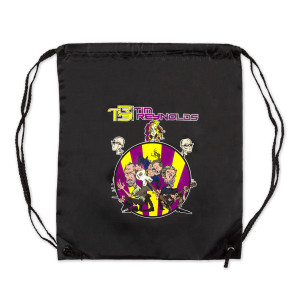 TR3 CARTOON DRAWSTRING BAG (BLACK)