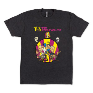 TR3 CARTOON TEE CHARCOAL