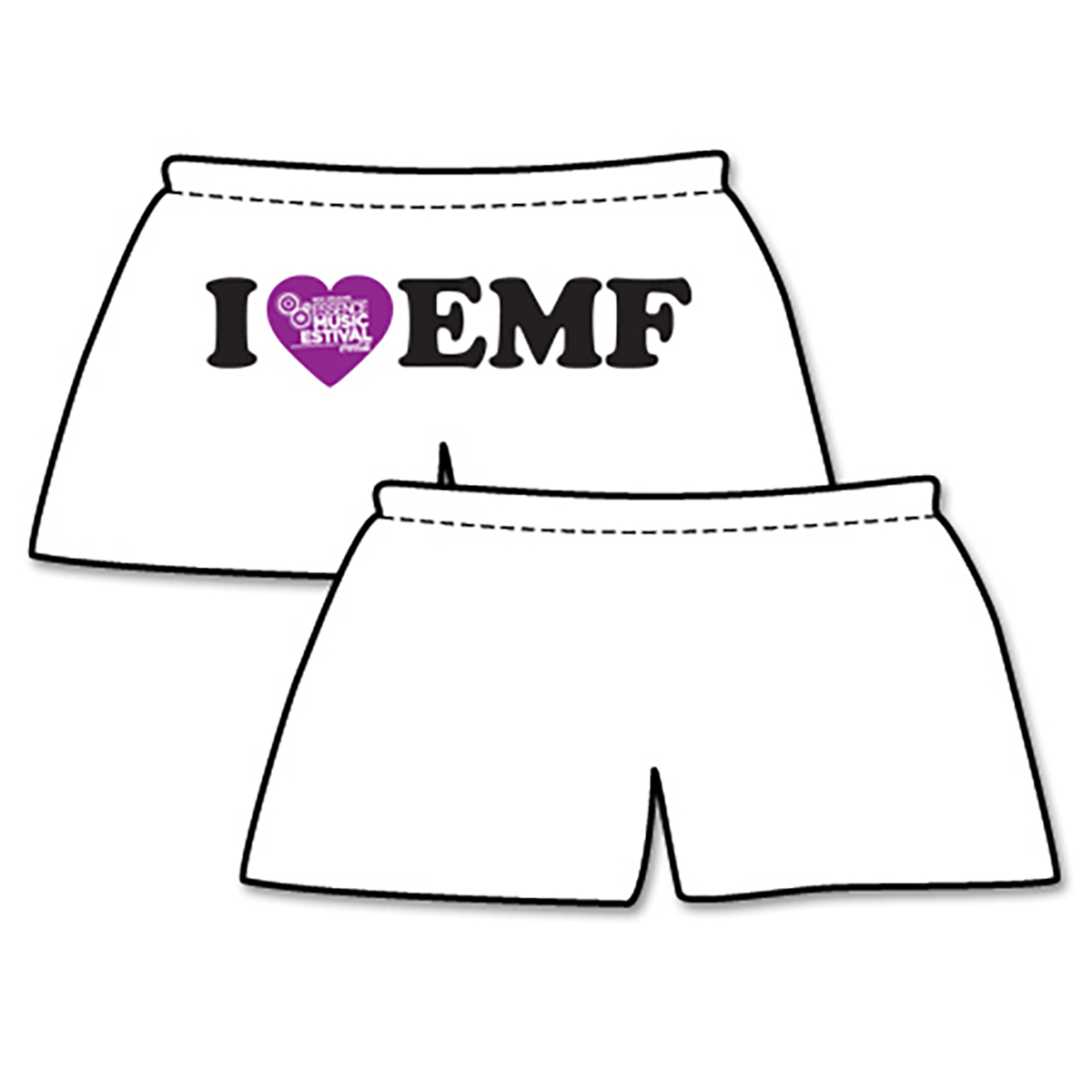 Women's I Heart EMF P.E. Short