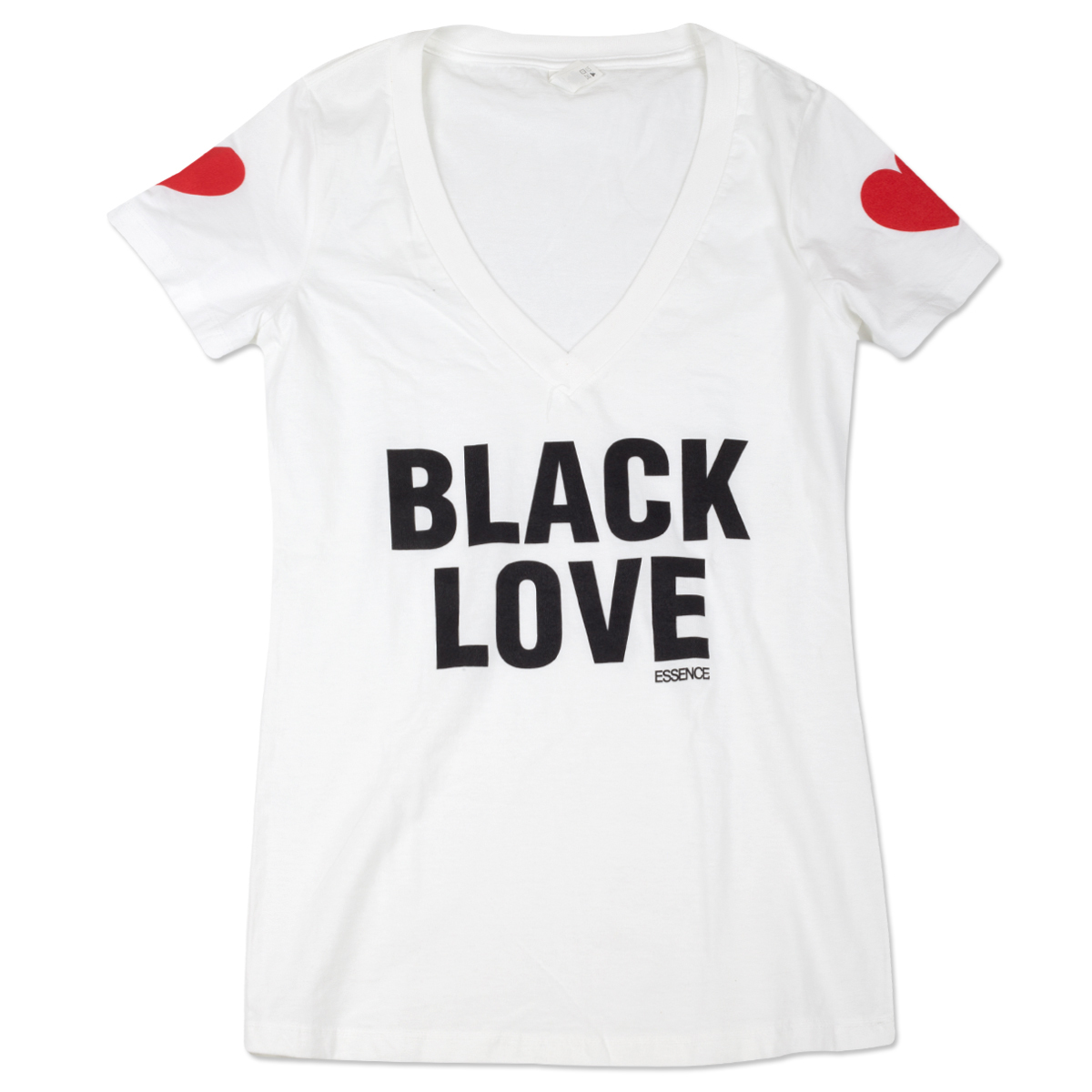 Women's Black Love V-neck